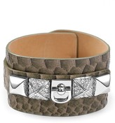 Juicy Couture B-Wild Leather Cuff Bracelet