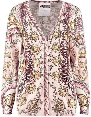 Moschino Printed Cotton Cardigan