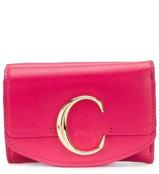 Chloé mini C tri-fold wallet