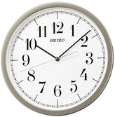 Seiko White Dial Wall Clock With Silver-Tone Case Qxa636slh