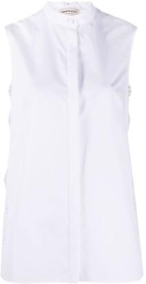 Alexander McQueen Lace Inserts Sleeveless Shirt
