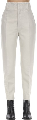 Etoile Isabel Marant Goah High Waist Cotton Canvas Pants
