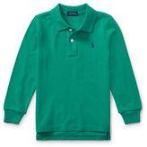Ralph Lauren Childrenswear Long-Sleeve Cotton Mesh Polo