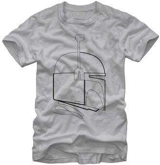 Fifth Sun Men's Tee Shirts SILVER - Star Wars Boba Fett Minimalist Tee - Men