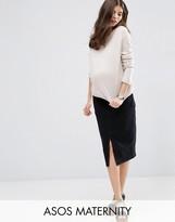 Asos Denim Pencil Skirt in Washed Black