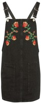 Topshop MOTO Tapestry Denim Pinafore Dress