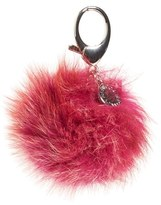 Rebecca Minkoff Genuine Fox Fur Pom Bag Charm - Red