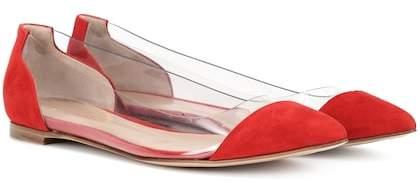 Gianvito Rossi Exclusive to mytheresa.com – Plexi Flat suede ballerinas