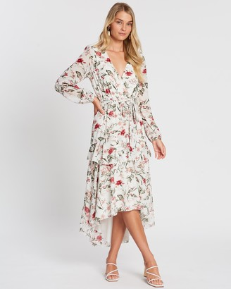 Atmos & Here Larissa Ruffle Midi Dress