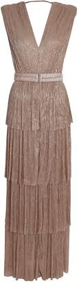 Sabina Musayev Skyler Plisse Lurex Gown