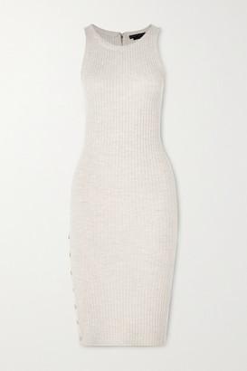 Alice + Olivia Alice Olivia - Jenner Wool-blend Midi Dress - Ecru