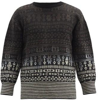 Noma t.d. Fair-isle Wool Sweater - Black Multi