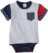 Kapital K Pocket Bodysuit (Baby) - Grey Heather-3-6 Months