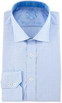 English Laundry Check-Print Long-Sleeve Dress Shirt, Blue/Pink