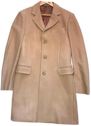 Benetton Camel Wool Coats