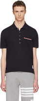 Thom Browne Navy Pocket Polo