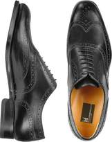 Moreschi Oxford - Black Calfskin Wingtip Shoes
