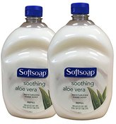 Alöe Softsoap Hand Soap Soothing Vera Moisturizing Hand Soap Refill 64 Fluid Ounce Bottle (Pack of 2)