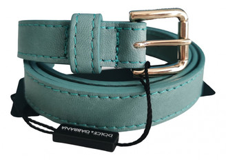 Dolce & Gabbana Green Leather Belts