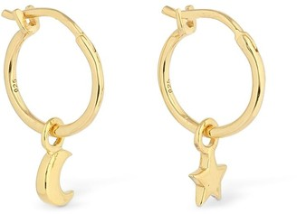 Missoma Mini Star & Moon Charm Hoop Earrings
