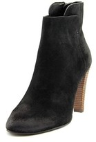Elie Tahari Daryn Women Round Toe Suede Black Ankle Boot.