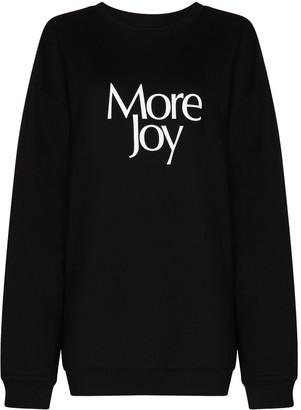 More Joy Logo Print Cotton Sweatshirt
