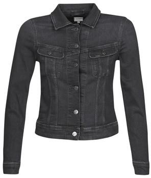 Lee SLIM RIDER JACKET women's Denim jacket in Black