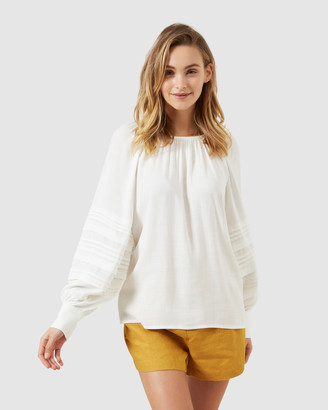 French Connection Balloon Sleeve Shirt
