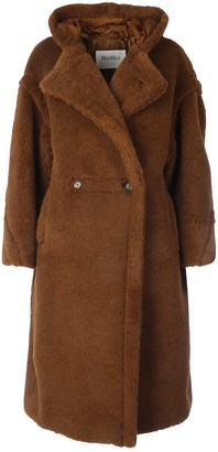 Max Mara Double Breasted Midi Teddy Coat