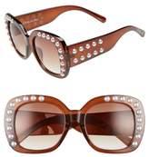 Sam Edelman 53mm Imitation Pearl Sunglasses