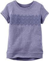 Carter's Short-Sleeve Purple Lace Knit Top - Girls 4-8
