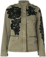 Mason floral appliqué safari jacket