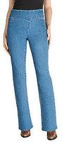 Denim & Co. As Is Denim & Co. Modern Waist Regular Pull-on Jeans