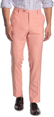 Paisley & Gray Peach Solid Slim Fit Pants