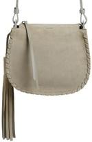 AllSaints Mori Suede Crossbody Bag - Grey
