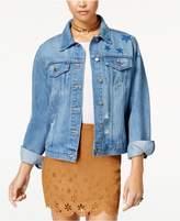 Tinseltown Juniors' Cotton Denim Jacket