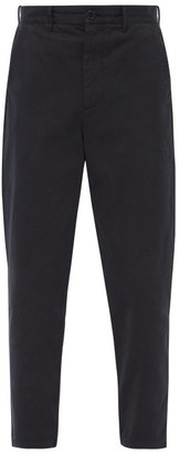 Raey Tapered Cotton Chino Trousers - Navy