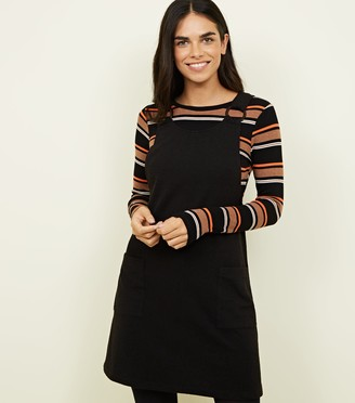 New Look Crosshatch Round Buckle Pinafore Dress