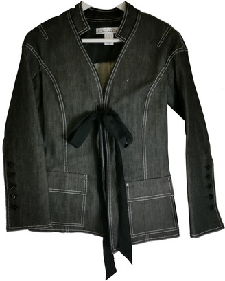 Oscar de la Renta Black Denim - Jeans Jackets