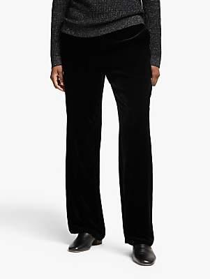 Eileen Fisher Velvet Straight Leg Trousers, Black