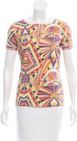 Emilio Pucci Open Back Printed Top