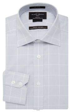 Black & Brown Black Brown Windowpane-Print Dress Shirt
