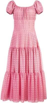 Michael Kors floral lace ruffled dress