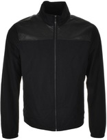 Michael Kors Leather Detail Jacket Black