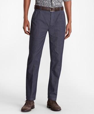 Brooks Brothers Soho Fit Indigo Double-Pleat Pants