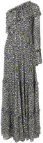 MSGM star patterned maxi dress - women - Silk/Polyester - 38