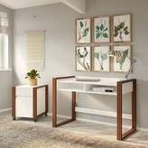 Kathy Ireland Home by Bush Furniture Voss Writing Desk with Filing Cabinet Set Home by Bush Furniture