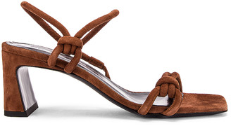 BY FAR Charlie Suede Leather Sandal in Brown | FWRD