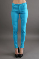 James Jeans James Twiggy Coated in Electric Blue Coated