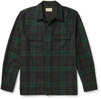 Nudie Jeans Sten Checked Wool-Blend Twill Shirt